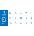 15 solid icons vector image vector image