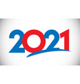2021 classic red blue white empty logo vector image