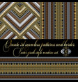 3d greek seamless patterns and border set vector image