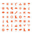 49 weather icons vector image vector image