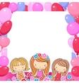 a Birthday Celebrant three girls vector image