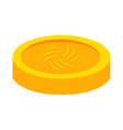 abstract virtual coin vector image vector image