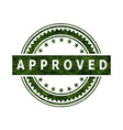 approved stamp icon sign vector image
