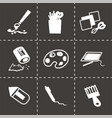 art tool icon set vector image