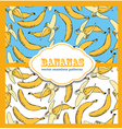 Banana colored doodle seamless vector image vector image