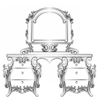 Baroque furniture Dressing Table vector image vector image