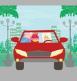 beautiful woman coming back from shopping vector image vector image