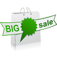 BIG sale green symbol vector image