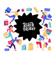 black friday sale poster banner design template vector image vector image