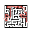 black line maze icon vector image