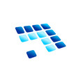 blue arrow digital panel rounded blocks symbol vector image