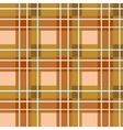 Brown plaid fabric vector image vector image