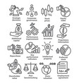 business management line icons pack 42 vector image vector image