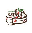 cake stylized symbol logo template vector image
