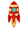 cartoon rocket space ship take off vector image vector image