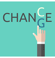 Change and chance concept vector image