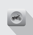 chopper motorcycle icon vector image