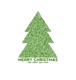 christmas tree made from dots vector image vector image