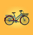 city bike green transport sports and health vector image vector image