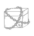 closed paper box with chain and lock vector image vector image