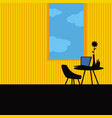 convenient place for remote work vector image