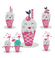 cute hand drawn ice cream ice creams cartoon vector image vector image