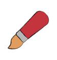 cute paint brush cartoon vector image vector image