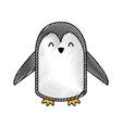 cute scribble penguin cartoon vector image vector image