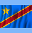 democratic republic of the congo realistic waving vector image