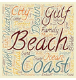 Destin Fl Jewel Of The Gulf Coast text background vector image vector image