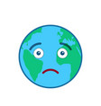 disappointed world globe isolated emoticon vector image
