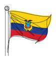 ecuador national flag one line abstract icon vector image vector image