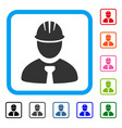 engineer framed icon vector image vector image
