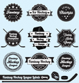 Fantasy Hockey League Champions Labels vector image vector image