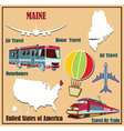 Flat map of Maine vector image vector image