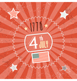 Fourth July 1776 Independence Day Red Retro vector image