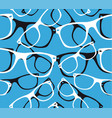 glasses seamless pattern retro hipster sunglasses vector image vector image