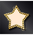 glowing frame in shape star on transparent vector image vector image