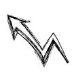 graffiti arrow abstract design creative icon vector image