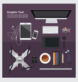graphic tool workspace isolated vector image vector image