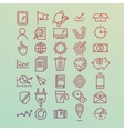 Hand drawn icons concept development management vector image
