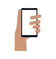 hand holding cellphone icon image vector image vector image