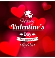 Happy Valentines day typographical glow holiday vector image