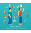 Health And Obesity vector image vector image