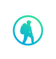 hiker icon backpacking hiking vector image