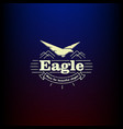 icon eagle vintage vector image