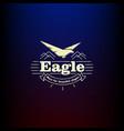 icon eagle vintage vector image vector image
