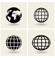 icons globes vector image vector image