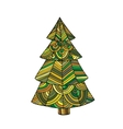 image a christmas tree vector image vector image