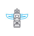 indian totem linear icon concept indian totem vector image vector image